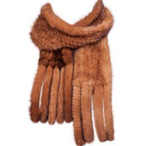 Minkhalstørklæde-golden
