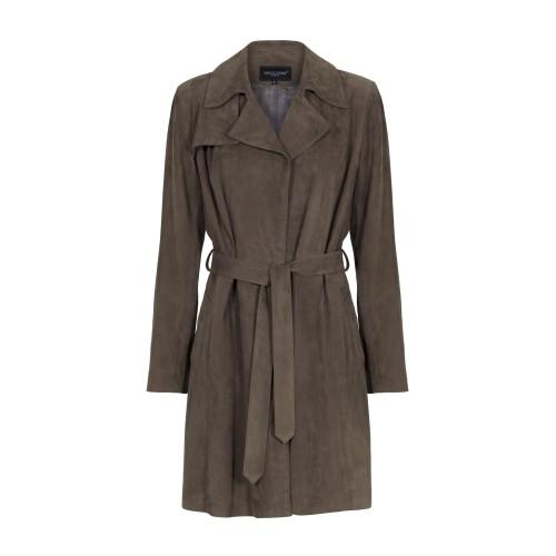 Klassisk skindfrakke brun