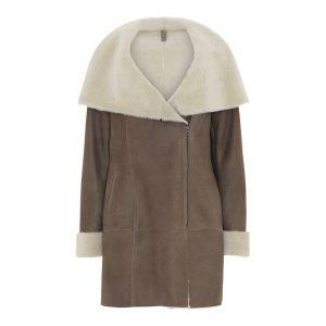 brun-rulamsfrakke-lynlås