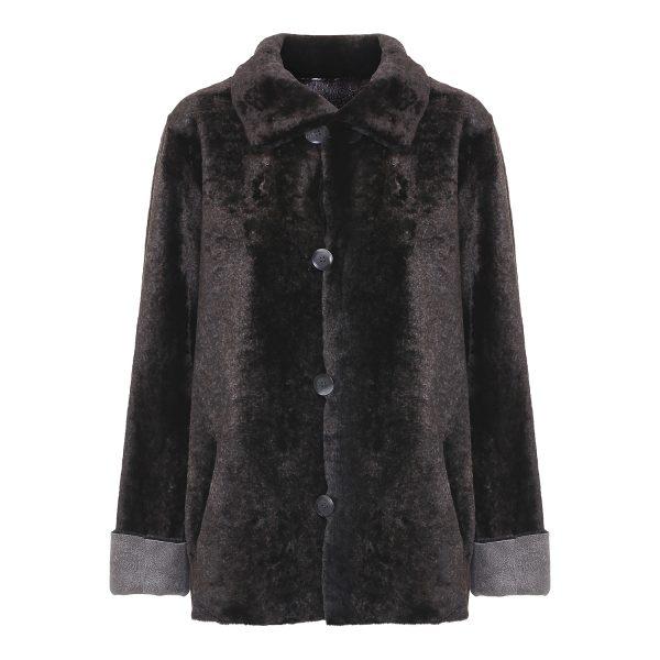 Vendbar indvendig rulamsjakke casual grå