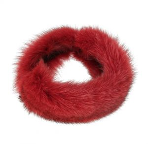Pelspandebånd i rød coyote