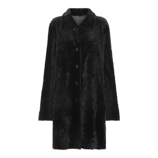 sort vendbar rulamsfrakke